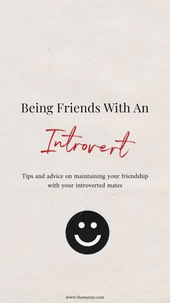 being friends with an introvert the marize pin it