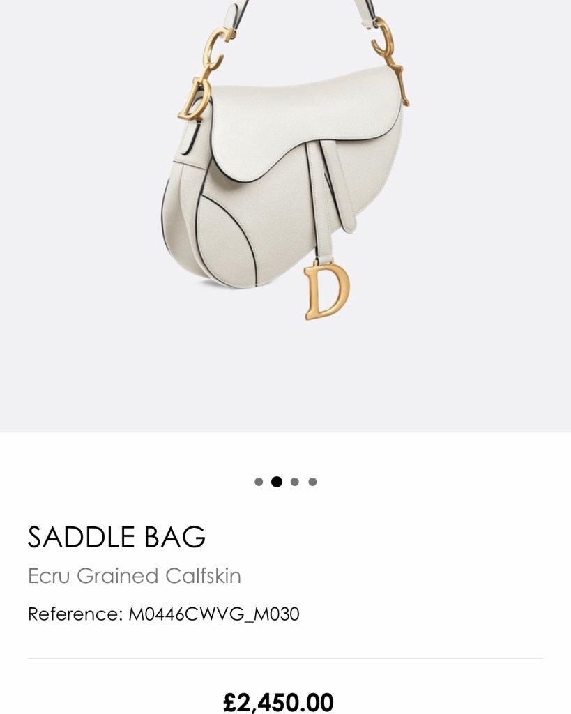 saddle bag white