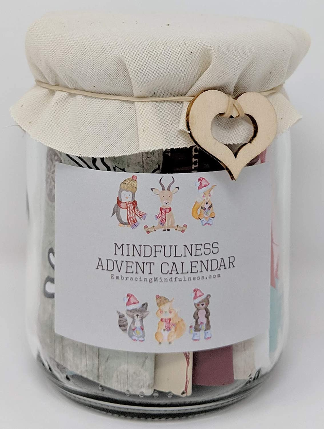 mindfulness jar Christmas advent calendar