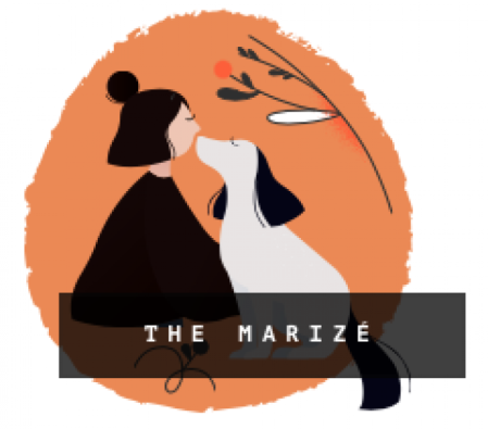 the marizé logo girl dog