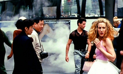 Sex and the City opening credits, Sarah Jessica Parker as Carrie Bradshaw with tutu skirt