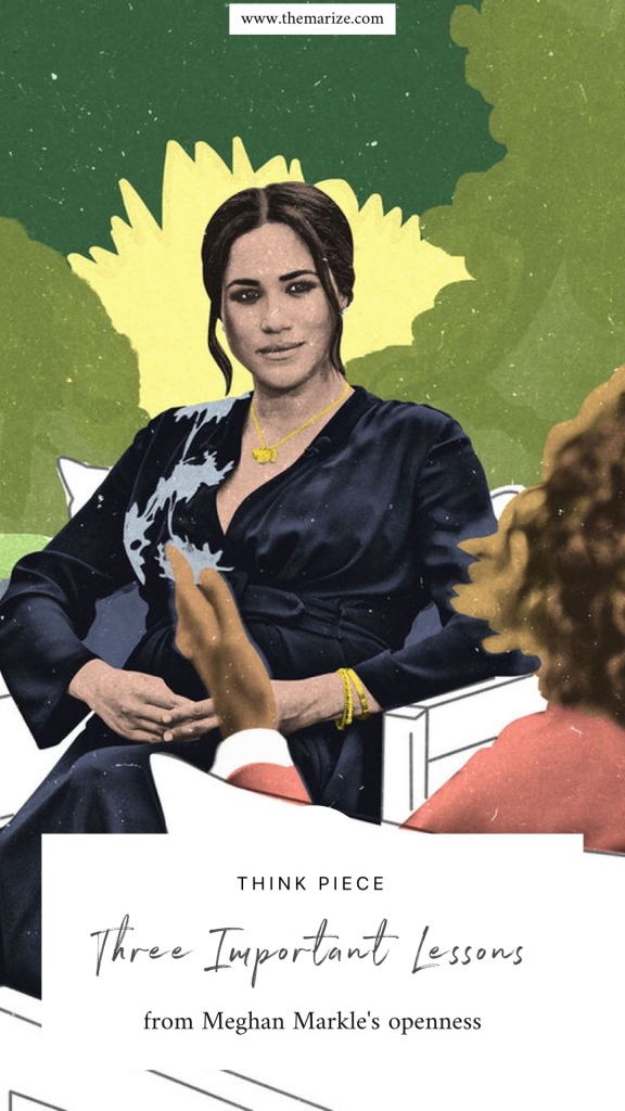 pin it meghan markle illustration oprah interview